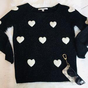 Knit heart sweater